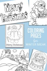 Washable paint sticks, kids paint set, 6 count. Christmas Winter Coloring Pages For Kids To Color