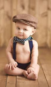 Boy Baby Photo Adorable Infant Baby Toddler Kids Boys Navy Bow Tie And