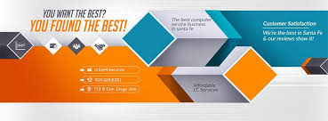 banner design template web graphics services 4leet computer repair it services web