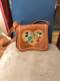 vintage walt disney productions mickey minnie mouse beaded coin purse handbag
