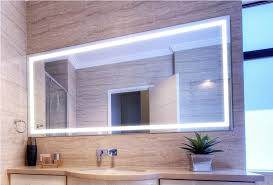 lighted wall mirror. image of: large lighted bathroom wall mirror w
