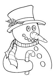 Kleurplaat Kerst Kleurplaat Van Een Sneeuwpop Met Een Kersthoed Op
