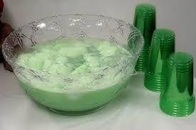 green shower punch sherbet punch