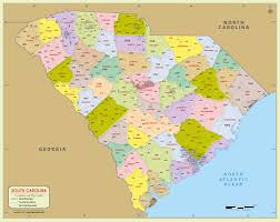 buy south carolina zip code map with counties
