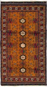 main image of rug orange persian burnt