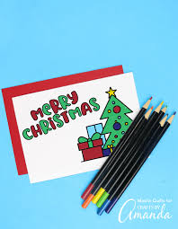 You will find links to matching gift tags and gift wrap pages near the. Christmas Coloring Cards Crafts By Amanda