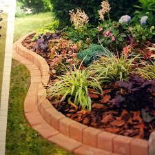 brick garden edging brick garden