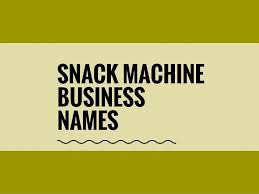 Vending Machine Name Ideas