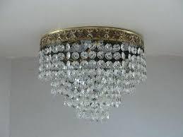flush mount crystal chandelier vintage crystal chandelier lighting flush mount light by semi flush mount french