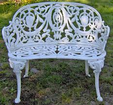 wrought iron wicker outdoor furniture white. I Already Own One Of These Courtesy My Grandma --Cast Iron Garden Bench Wrought Wicker Outdoor Furniture White T