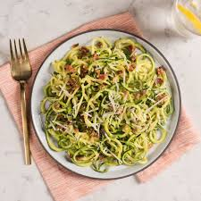 zucchini spiral carbonara bella housewares tip subsute pecorino romano for parmesan cheese if