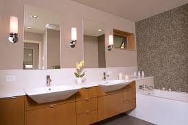 bathroom wall sconces. modern bathroom wall sconce contemporary with dual sinks double vanity earth tones sconces