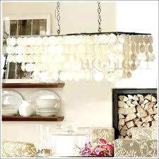 rectangular capiz shell chandelier new length rectangle natural s chandelier suspension lamp light free large
