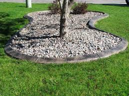 image of landscape concrete edging curbing