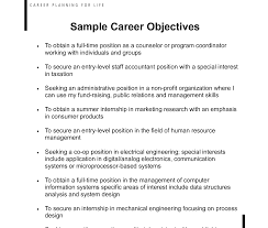 Professional Objective For A Resume Good Objective Lines For Resumes And Great Career Resume Sample 49