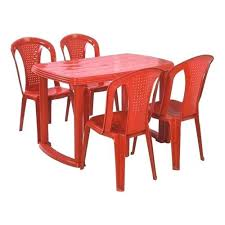 red table and chairs set red dining