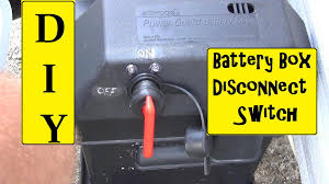 rv battery box disconnect switch installation