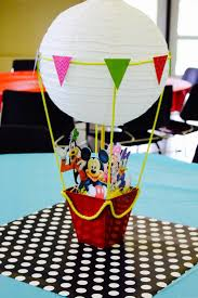 Mickey Clubhouse DIY hot air balloon centerpiece | Noemi's 1st Birthday -  Mickey Mouse Clubhouse | Pinterest | Mickey clubhouse, Balloon centerpieces  and ...
