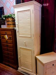 Tall Cabinet With Drawers White Louver Door Tall Cabinet Furniture4u