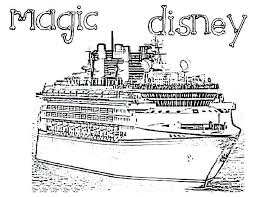 Disney Cruise Coloring Pages Magic Cruise Ship Coloring Pages Disney
