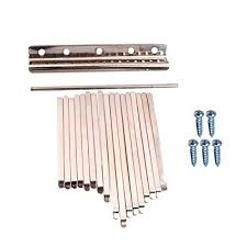 <b>17 Pieces Musical Steel</b> Keys for Kalimba Percussion Instrument ...