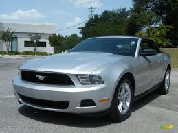 2010 Brilliant Silver Metallic Ford Mustang V6 Convertible ...