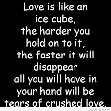 love is like a ice cube