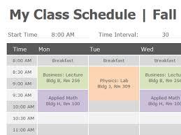 Schedule Maker For College Class Schedule Office Templates College Schedule School
