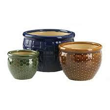 large outdoor designer trio ceramic