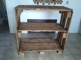 table with shelves. recycled pallet bookshelf or console table with shelves