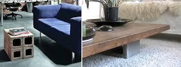 cinderblock furniture. Beautiful Furniture View In Gallery Cinder Block Coffee Table Ideas On Cinderblock Furniture