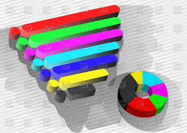 Colorful 3d Bar Graphs And Pie Chart Infographics Elements Stock Vector Image