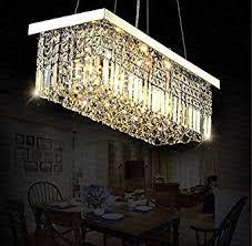 island chandelier lighting. Siljoy L40\u0026quot; X W10\u0026quot; Rectangle Modern Crystal Chandelier Lighting Raindrop Pendant Light Dining Room Island L