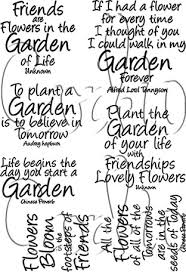 Garden Quotes Awesome Garden Quotes Clear Stamp Set Wonderful Sayings With A Garden Or