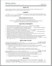Template Mechanical Engineering Resume Templates Civil Project