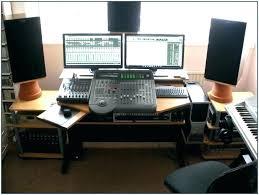 home recording desk studio white furniture design classic project mixing console