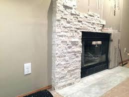 fireplace stone tile white