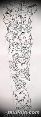 тату рукав для девушек эскизы 08032019 002 Tattoo Sketches