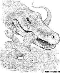 Small Picture Alligator Coloring Page by YUCKLES