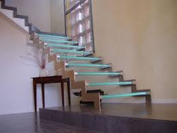 staircase led lighting. the wooden hill company brings you a bespoke glass staircase with led lighting effects this double laser cut stainless steel structure is having toughened led