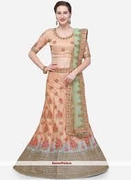 Lehenga Choli Designs Peach Color Designer Lehenga Choli