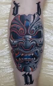 маска мужская тату на голени фото татуировок
