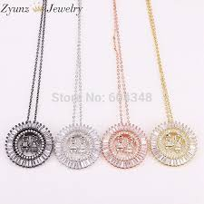 5 strands zyz294 9625 new boy and girl baby pendants necklaces crystal zircon paved cz