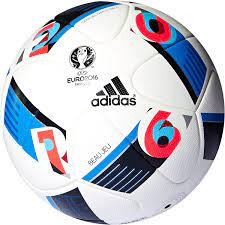 adidas Herren Ball Euro 2016 Official Match, White/Bright Blue/Night  Indigo, 5 : Amazon.de: Sport & Freizeit
