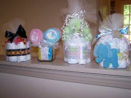 luxury bracelet marvelous design inspiration mini diaper cake centerpieces four pink grey elephant cakes baby