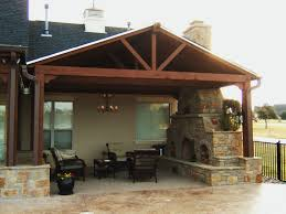 covered patio ideas. Exellent Ideas Covered Patio Ideas Architecture House Design Country  In The Backyard With Outdoor Traditional Fireplace And Wooden Dining Sets  Throughout