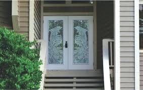 frosted glass exterior door dolphins etched on double front doors frosted glass exterior bathroom door