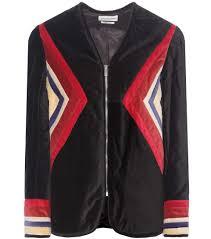 isabel marant étoile lalia velvet cotton jacket multicoloured women isabel marant er taupe best