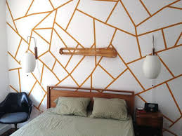 Use painters tape to make interesting patterns. | 29 Impossibly Creative  Ways To Completely Transform