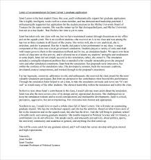 requesting letter of recommendation graduate school template for letter of recommendation for graduate school